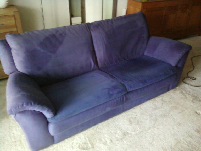 gestoffeerde meubels reinigen na reiniging